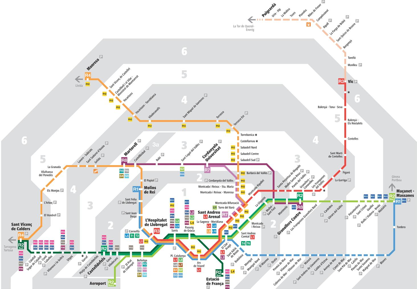 Mapa Transporte Publico Barcelona.Barcelona Mapa De Transporte Publico Barcelona Mapa De
