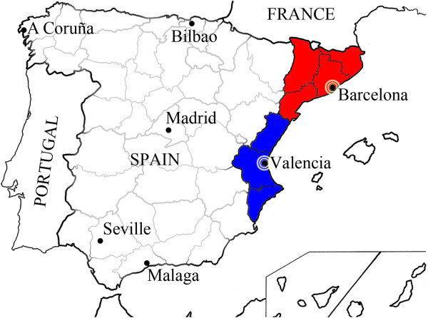 Mapa De Valencia España.De Barcelona A Valencia Mapa Mapa De Barcelona A Valencia