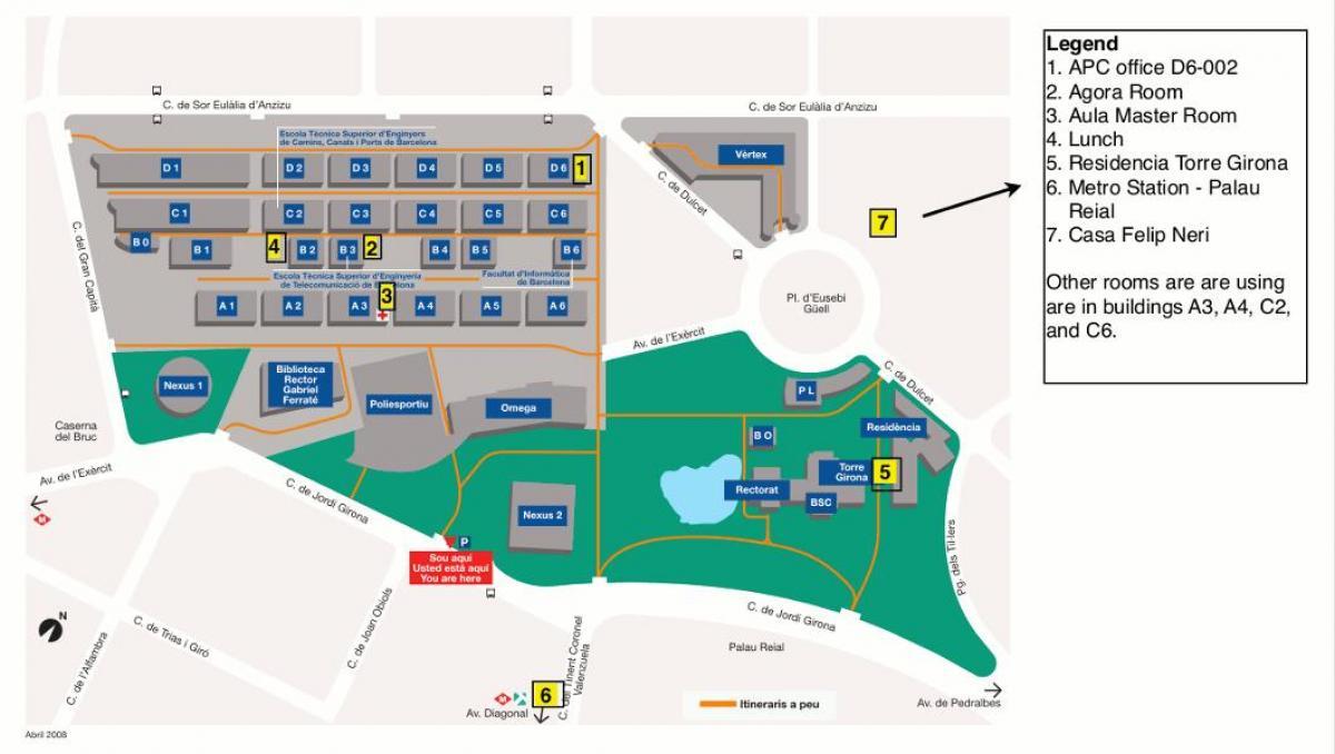 Universidad De Barcelona Mapa Mapa De La Universidad De